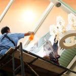 mytí skleněných fasád a střech