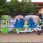 fasáda a graffiti