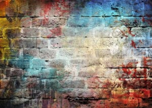 posprejované zdi