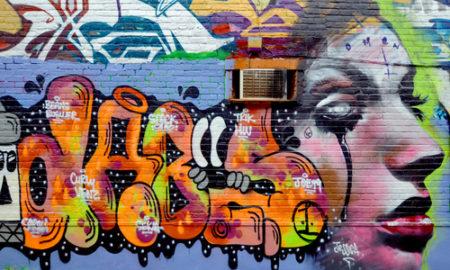 čištění zdí od grafitů